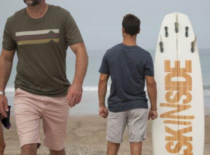 lifestyle baskinside t-shirt mendee coton bio kaki